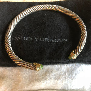 David Yurman Sterling Silver & 14K Cable Bracelet
